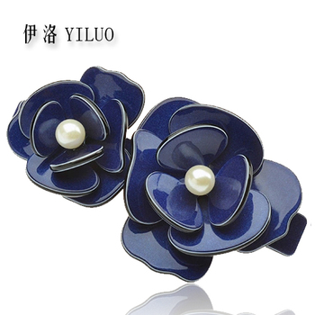 Women Hair Accessories Flower Hair Clip Elegant Pearl