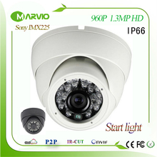 Mental house IP67 outdoor Dome Sony IMX225 Sensor 1.3MP 960P starlight Network IP camera PoE colorfull night vision Camara