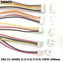10 zestawów JST XH2.54 XH 2.54mm złącze kabla drutu 2/3/4/5/6/7/8/9/10 rozstaw pinów mężczyzna kobieta gniazdo wtykowe 20cm długość drutu 26AWG