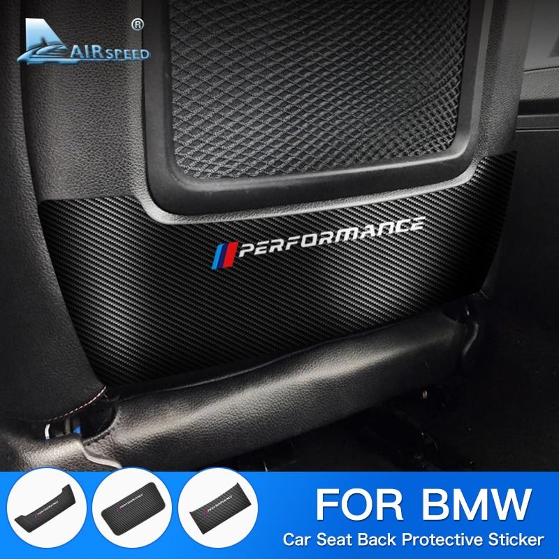 Airspeed For BMW F20 F22 F30 3GT F34 F10 F33 F36 E84 E90 G30  Sticker Accessories Carbon Fiber Vinyl Seat Back Protective Sticke
