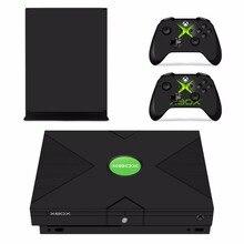 Calcomanía de adhesivos extraíbles de diseño personalizado para Consola Microsoft Xbox One X y 2 controladores para Xbox One X, pegatina de vinilo para la piel
