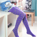 High Quality Cute Children Stockings Girl Kids Pantyhose Dance Tights Dots Velvet Slim Dance Full Foot Tights Clothing CL0856