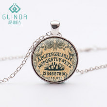 GLINDA 14 Style Ouija pendant The Ouija Board Art photo Glass dome Jewelry Vintage Handmade Silver Plated Necklace Jewelry