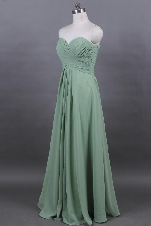 Chiffon Turquoise Dress Long Bridesmaid DRESSES Ruched Dress  Party Wedding Reception Women Gown D42