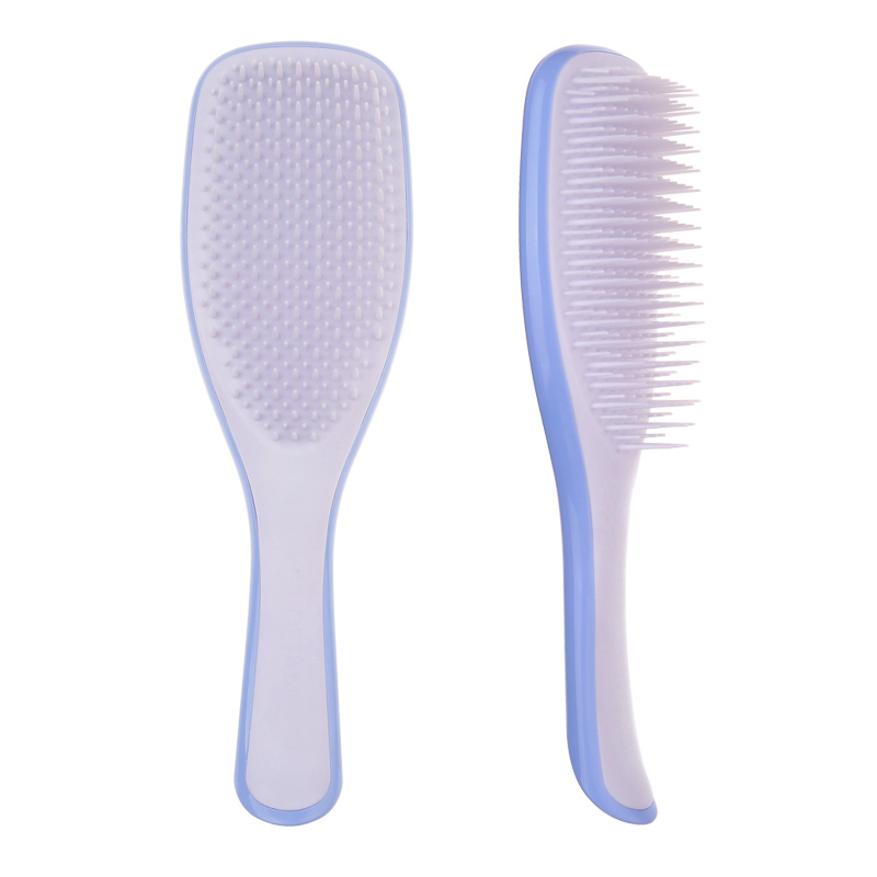 Image 2 - 1Pc Anti static Hair Brush Comb Styling Teezer Shower Electroplate Detangling Massage Combs for Salon Styling Women Girls Hair-in Combs from Beauty & Health