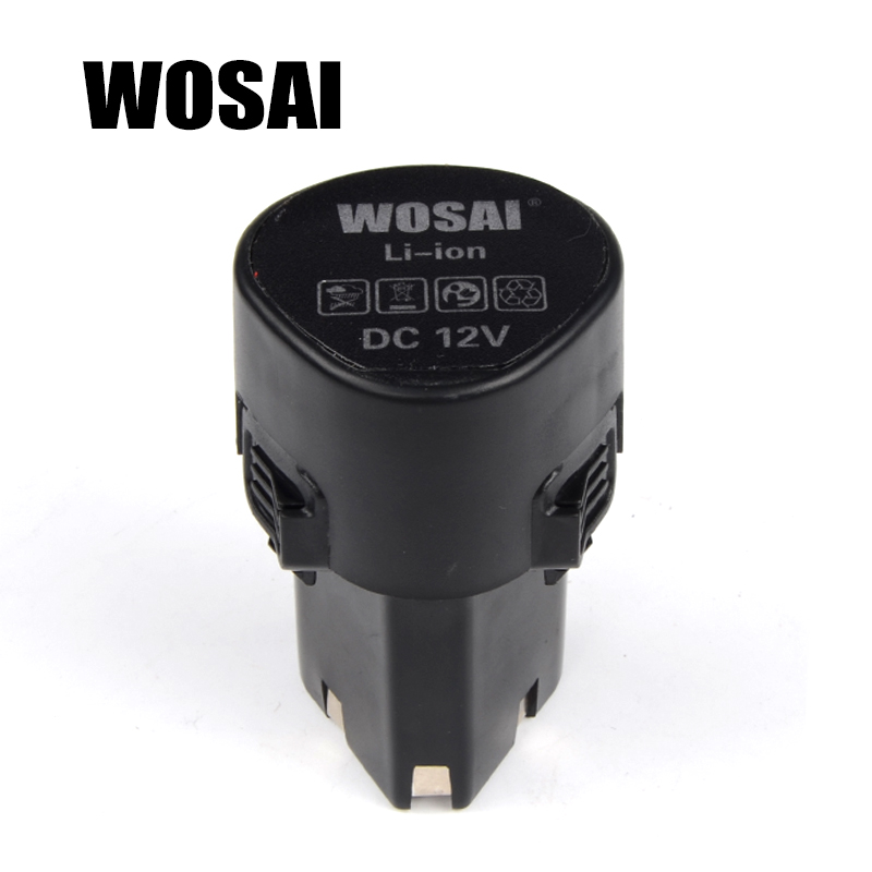 WOSAI 12V Cordless Drill Lithium Battery Replacement Battery Applicable Drill Model WS-3005 WS-D5 wosai 12v cordless drill lithium battery replacement battery applicable drill model ws 3005 ws d5