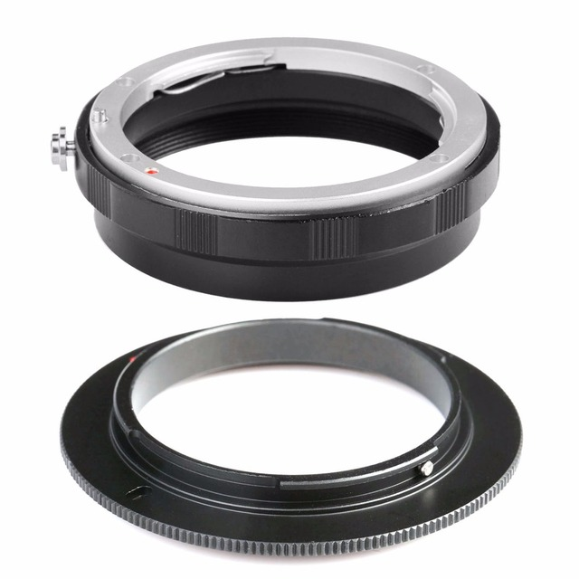 52mm Lenses For AI-52MM Macro Reverse Adapter Ring Camera Mount Adapte+Rear Lens Mount Protection Ring For Nikon AI Mount Lens