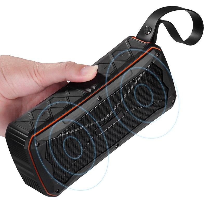 Alto-falante sem Fio Subwoofer à Prova Handsfree com Microfone Portátil Bluetooth Daux Água Aux tf Cartão Jogar S610
