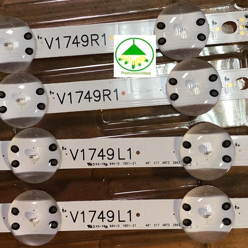 New Kit Good Quality 8 PCS LED Strip For LG 49UV340C 49UJ6565 49UJ670V V17 49 R1 L1 ART3 2862 2863 6916L-2862A 6916L-2863A