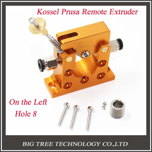 3D принтер Reprap Коссель боуден 42 шагового двигателя цельнометаллический дистанционного экструдер prusa на левое отверстие 8 мм