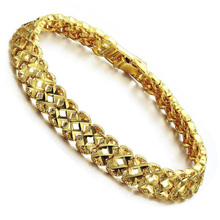 Liffly Fashion Female 18K Gold Bracelet Hollow Bracelets for Women Bridal Wedding Party Jewelry Birthday Gift