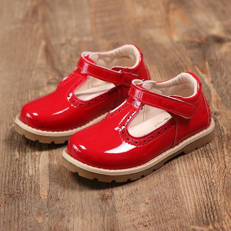 Mädchen Leder Schuhe 2019 Mode Schwarz Mädchen Schule Schuhe Kinder Uniform Turnschuhe Kinder Oxford Schuhe Für Hochzeit Party Zeigen