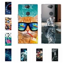 For Sony Xperia XA2 Plus Case Soft TPU Silicone Cover Floral Patterned Funda Bumper