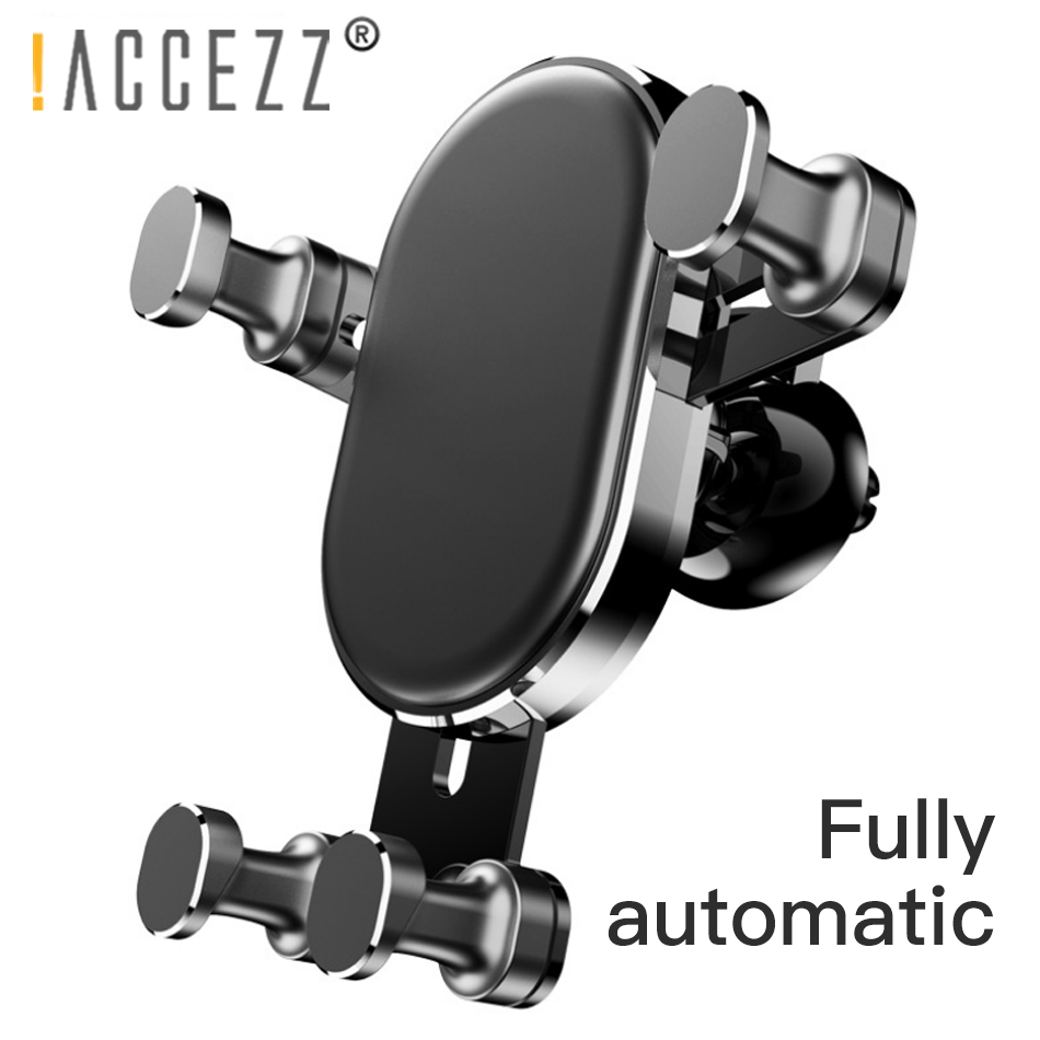 !ACCEZZ Gravity Car Holder For Phone in Universal Air Vent Clip Mount iPhone X XS Max Xiaomi 9 Mobile Bracket