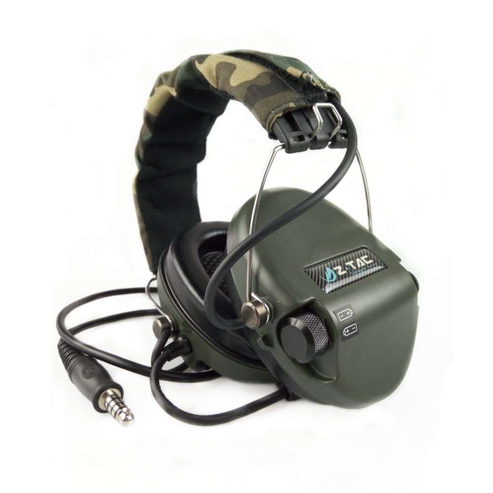 Z Tactical Military Headset Hodetelefon Airsoft Radio Comtac IPSC OD for PTT Military Radio (Z-111)