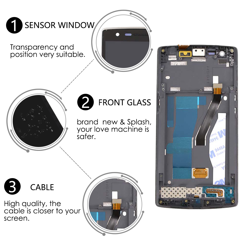 Sinbeda 5.5 Schermo AMOLED Per Oneplus One 1 + Display LCD Touch Screen Digitizer Assembly Cornice Per OnePlus 1 a0001 Display LCDSinbeda 5.5 Schermo AMOLED Per Oneplus One 1 + Display LCD Touch Screen Digitizer Assembly Cornice Per OnePlus 1 a0001 Display LCD