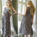 Loose Pregnant Women Sundress Stripe Maternity Dress Nursing Dress Breastfeeding Clothes For Pregnant Women YL170