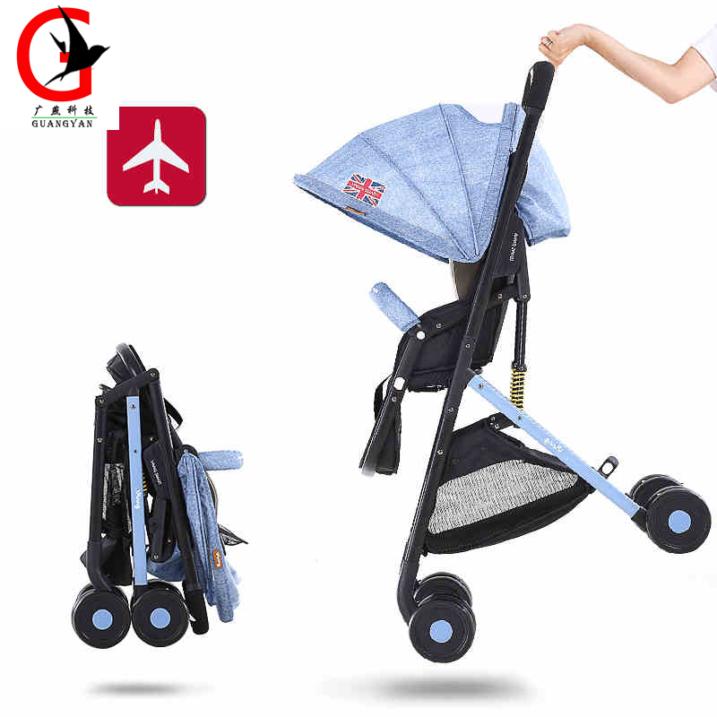 ФОТО Baby Stroller High landscape lightweight Umbrella Stroller  Folding baby carriages can sit can lie can go on the planeVING-ST358