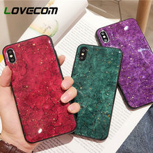 LOVECOM Luxury Crack Marble Cases For iPhone X XS Max XR 6 6S 7 8 Plus. 3  Colors Available 42b5a2e0030e