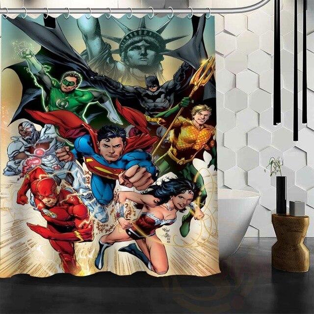 Best Nice Custom Superman Shower Curtain Bath Waterproof Fabric Bathroom MORE SIZE WJY121