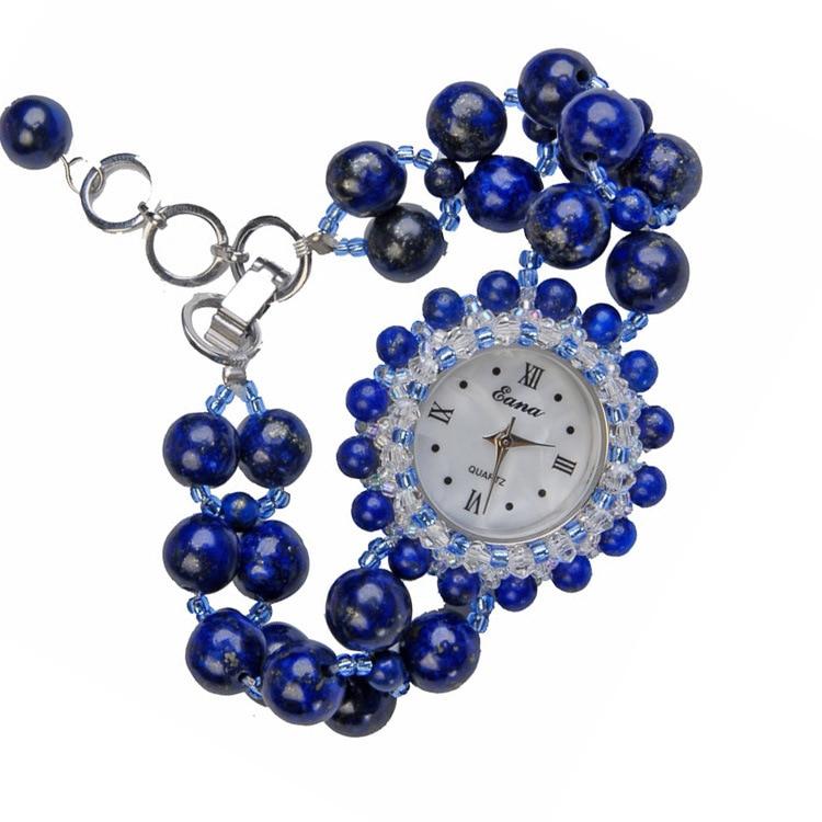 Ladies jewelry watch vintage fashion party fashion joker lapis lazuli material quartz watch women's watches