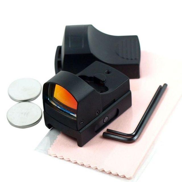 GUGULUZA Red Dot Sight Scope Tactical Mini Compact Holographic Adjustable Brightness Micro Reflex Red Dot Light Rifle Pistol