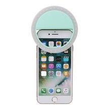 Перезаряжаемые 36 светодиодной вспышке Selfie телефон кольцо света Универсальный ночного селфи фотографии кольцо Light Up флэш лампы 3 Яркость с зажимом