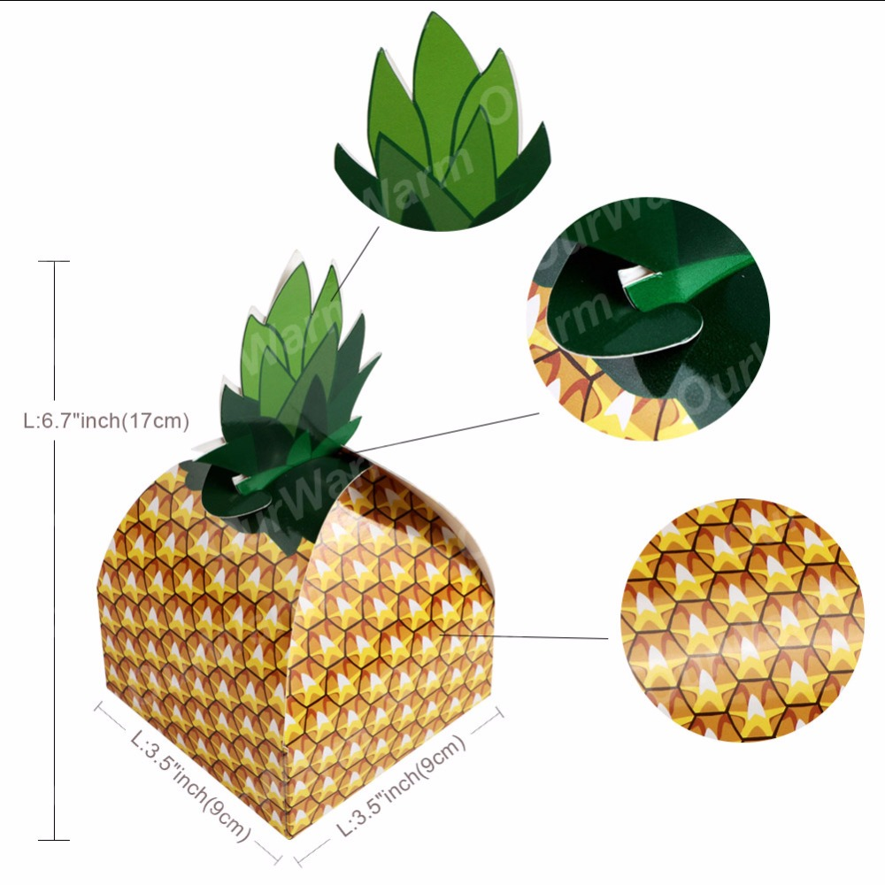 OurWarm 12Pcs Pineapple Candy Box Wedding Favors and Gifts for Guest ...