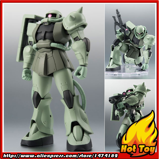 BANDAI Tamashii Nations Robot Spirits Action Figure No.197 - MS-06 Mass Production Zaku ver. A.N.I.M.E. Mobile Suit Gundam аксессуар кейс gizmon ica5 для iphone 5 5s purple 82367