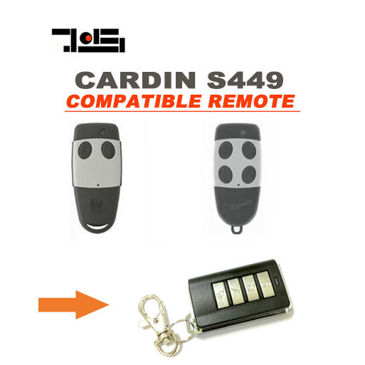 High quality ! FOR CARDIN S449 Garage Door repalcement Remote Transmitter Key 5pcs high quality compatible remote transmitter key fob for cardin s449 qz 2 qz 4
