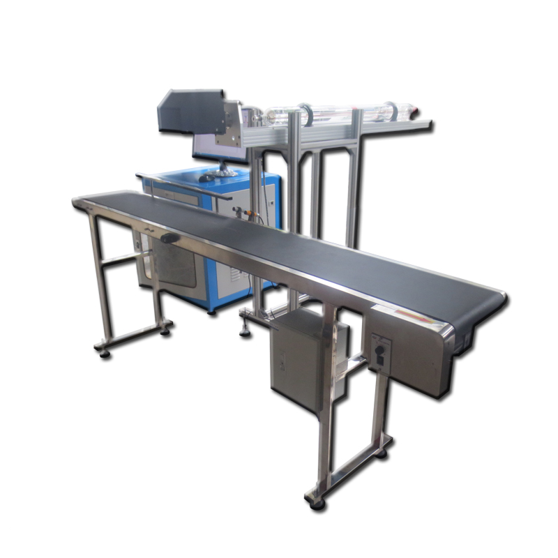 High Efficiency AccTek 90w Plastic Bottle Wood Cloth / Cable Co2 Laser Marking Machines With CE
