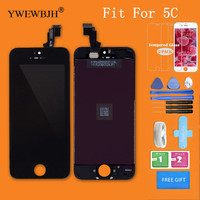 YWEWBJH 10PCS Grade AAA LCD Screen For 5C No Dead Pixel Spots Display Touch Digitizer Assembly