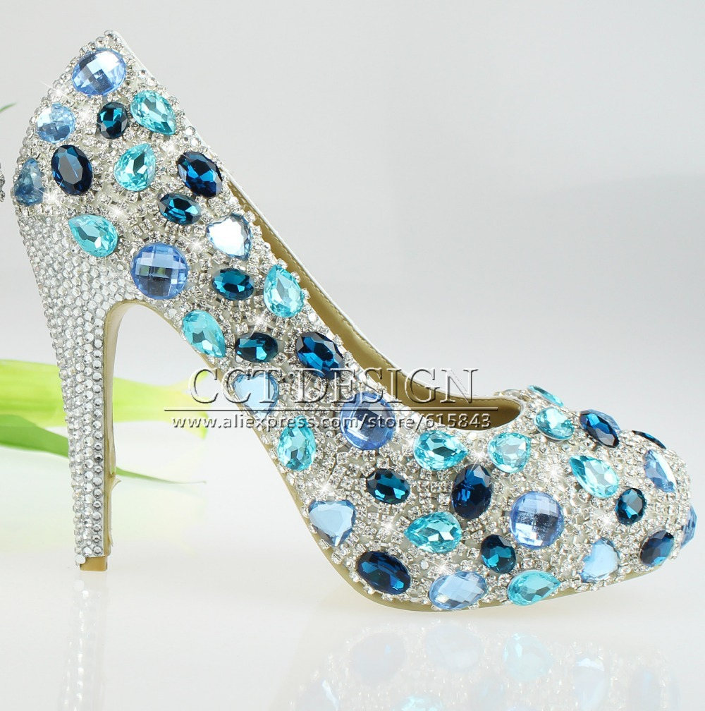 Blue Diamond Wedding Shoes