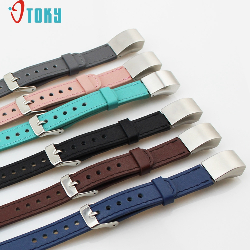 Excellent Quality Watchbands Luxury Double Tour Genuine Leather Watch Band Strap Bracelet For Fitbit Alta Wrist Band Strap 2017