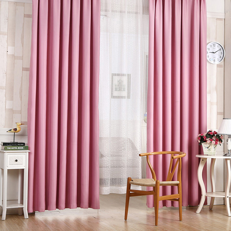 6 Solid Colors Blackout Curtains For Bed Room Living Drapes 100cm X