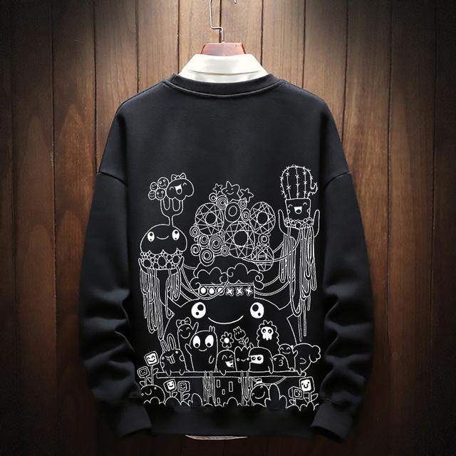 winter autumn plus size fat size men Sweatshirts 2xl-6xl 7xl 8xl big size o-neck hip-hop male sweatshirt Patchwork Hoodies 155cm