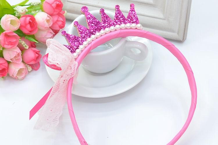 Happy my princess paillettecrown tiara with pearl bead - Como hacer diademas ...