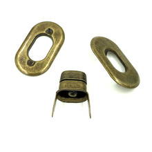 20 Sets Bronze Tone Oval Frame Kiss Clasps Closure Lock Purse Twist Turn Fermoir 37x21mm