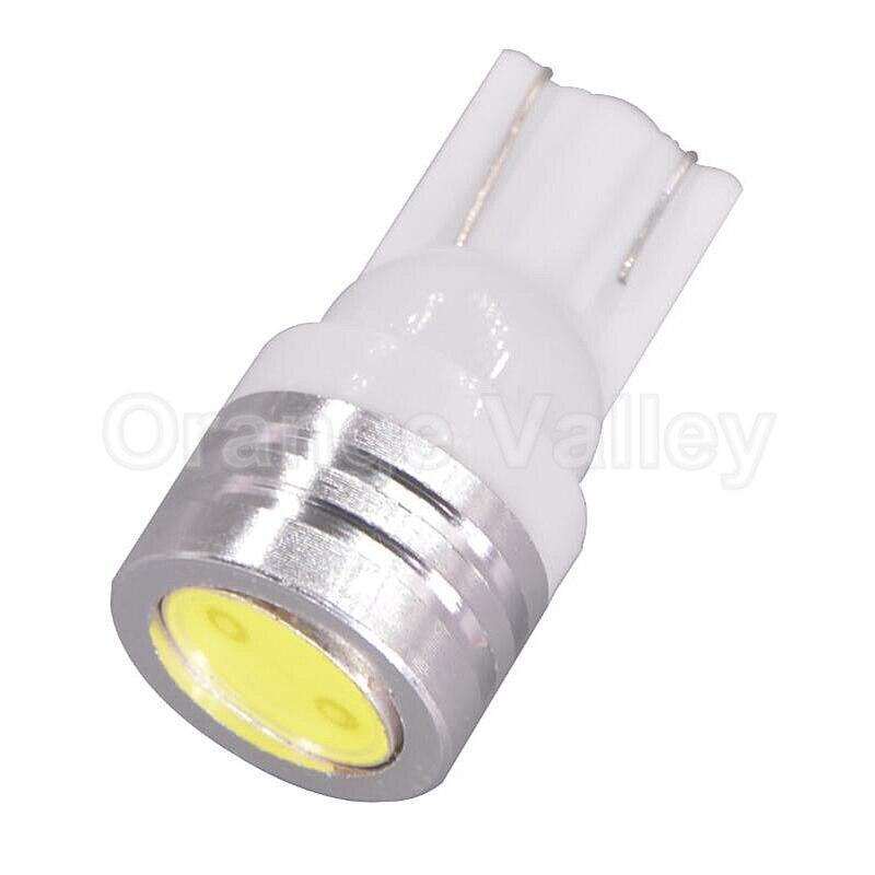 1Pcs High Power T10 W5W 184 2450 2521 LED Door Light clearance Bulb 1W auto car led lamp corner parking light white blue yellow