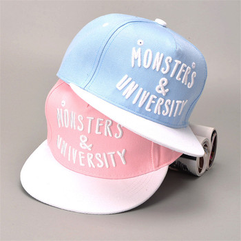 Pink Snapback Letter Embroidery Girl's Hats