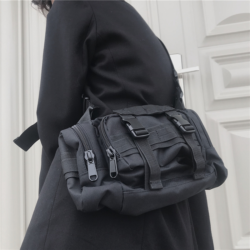 Men Women Tactical Shoulder Bag Waist Bag Hip Hop Streetwear Functional Tactical Chest Bag Pocket Kanye West 2019 Waist Packs