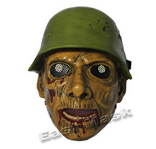 Seconde guerre mondiale soldat masque hallowen masque mascarade masque effrayant masque d'halloween cosplay accessoires jabbawockeez fournitures