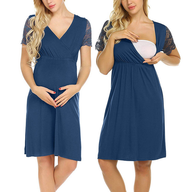 b750cea8bbd Casual Women maternity dresses Mother Summer Pregnancy clothes Nursing Baby  For Pregnants Pajamas Dress vestidos hamile giyim-in Dresses from Mother &  Kids ...