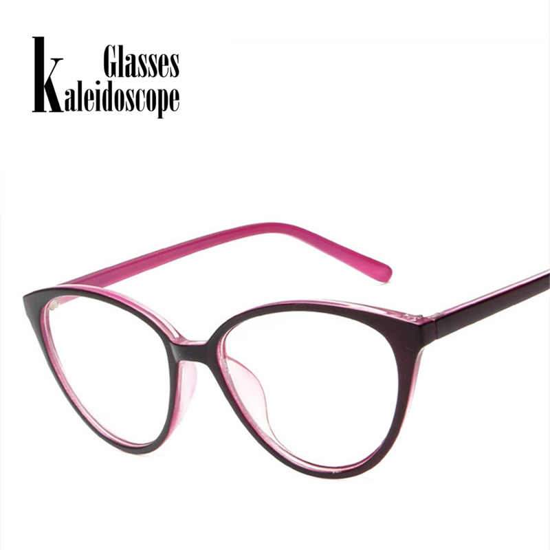 a051fc22e9 Kaleidoscope Glasses Cat Eye Glasses Frame Women Men Fashion Ultra Light Transparent  Optical Eyeglasses Flat Clear