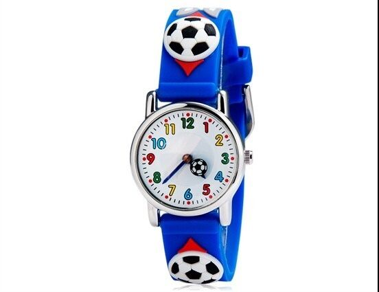 New 2016 Children Cartoon Watches Football Children Silicone Watches Quartz Fashion Waterproof Kids Child Wrist Wristwatches