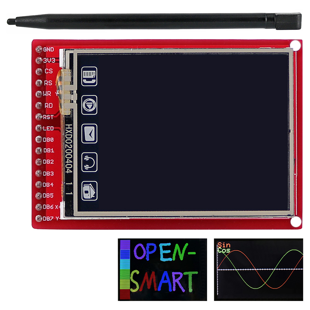 2.0 inch TFT LCD Display module Touchscreen Shield board 176 * 220 Resolutie w / Touch Pen voor Arduino UNO / Mega2560 / Leonardo