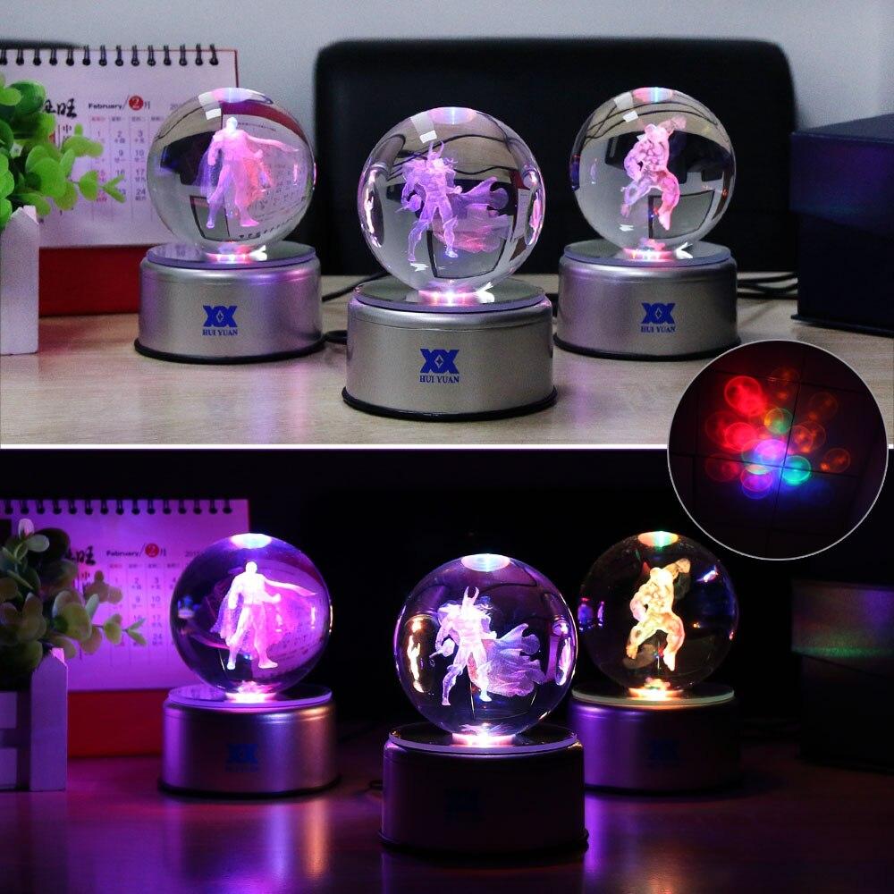 Avengers Hulk 3D Crystal Ball Lamp Desktop Decoration Glass Ball - Night Lights - Photo 3