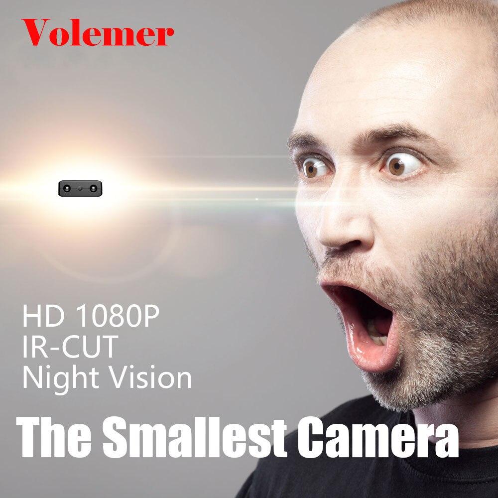 Volemer XD IR-CUT Mini Kamera Full HD 1080 P Infrarot Nacht Version Monitor Verdeckt diktiergerät Kleinste DV Kamera