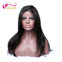 XBL HAIR Lace Front Human Hair Wigs Straight Brazilian Remy Hair Full Lace Wig For Black