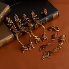 3 pièces poignée antique européenne armoire armoire porte poignées boutons de tiroir accessoire de matériel de meubles